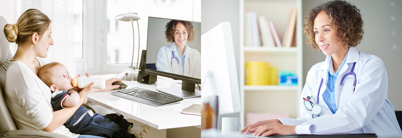 Video visits allow you to receive the same quality care as you do in the clinic, without taking time off work or finding a sitter to see us.